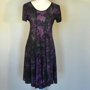 Sami & Jo short sleeve dress purple size M